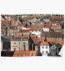Typical English urban houses Poster