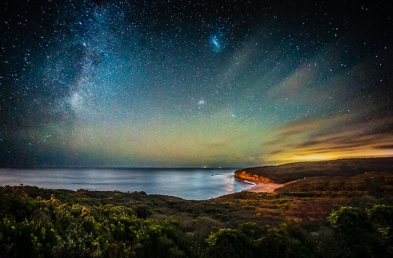 Night Sky Over Bells Beach Torquay By Russell Charters