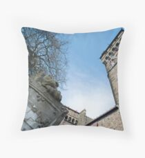 Cardiff Castle Animal Wall Throw Pillow