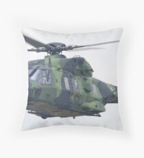 Finnish Army Helicopter Throw Pillow