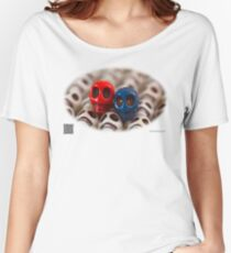 Red And Blue Women's Relaxed Fit T-Shirt