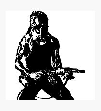 Rambo; First Blood Stencil Photographic Print