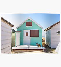Peppermint beach hut life Poster