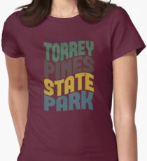 Torrey Pines State Park Womens Fitted T-Shirt