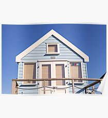 Beach hut perfection Poster