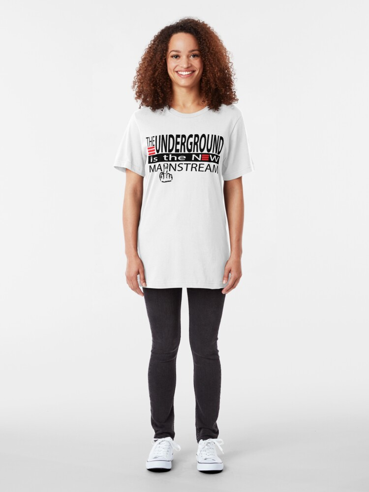 Alternate view of The Underground Is The New Mainstream Slim Fit T-Shirt