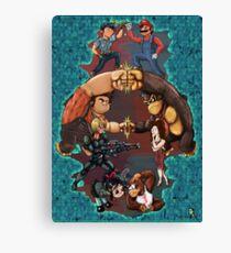Wreck it Ralph and Mario mash-up Canvas Print