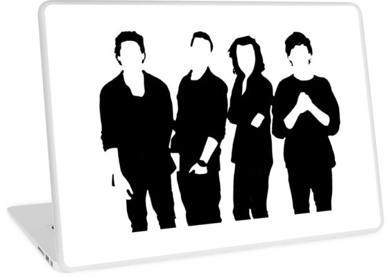 One Direction Silhouette Black and White by elizabethgoodin