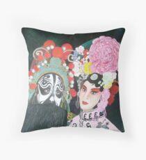 Beijing  Opera Characters Throw Pillow