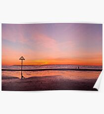 West Wittering Sunset Poster