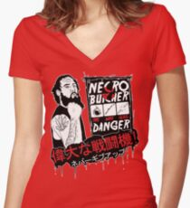 Necro Butcher - JAPAN Women's Fitted V-Neck T-Shirt
