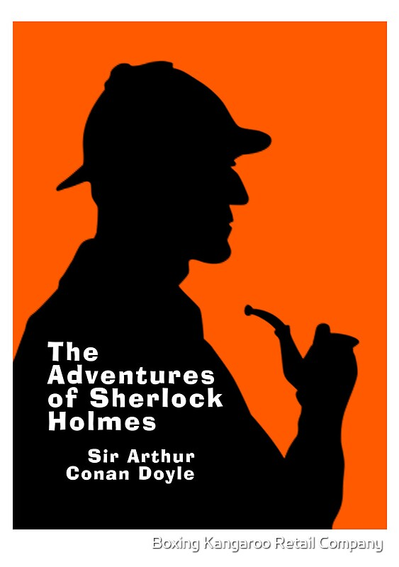 Sherlock Holmes Book Cover Art : Quot the adventures of sherlock holmes book cover posters by