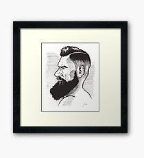 Kenny Brain - Bearded War Lord Framed Print