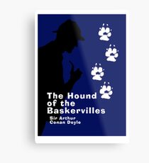 The Hound of the Baskervilles Book Cover Metal Print