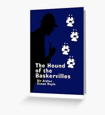 The Hound of the Baskervilles Book Cover Greeting Card