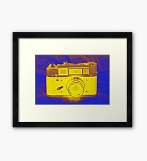 Camera Blue Framed Print