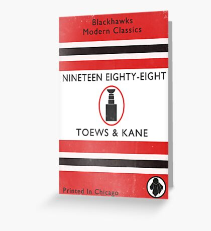 Nineteen Eighty Eight Book Cover Greeting Card