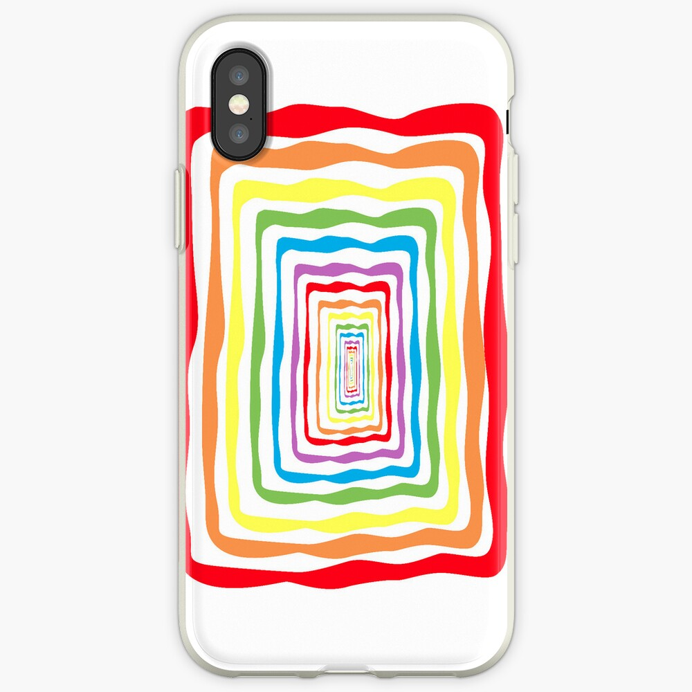 Rainbow wormhole, white background. Phone case iPhone-Hülle & Cover