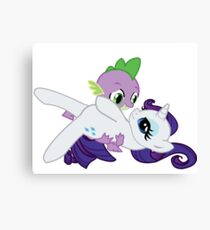 Spike and Rarity Canvas Print