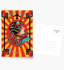 Steam punk gypsy Postcards