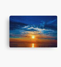 Blue Orange Red Canvas Print