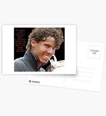 Rafa biting Cup Postcards