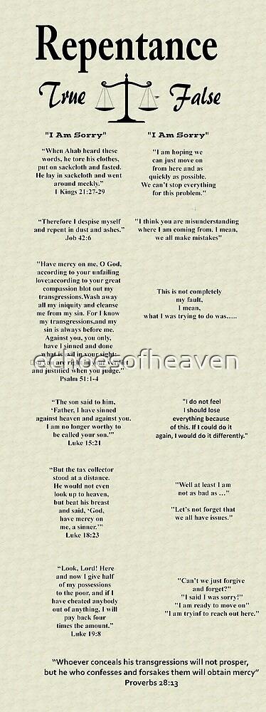 """Repentance: True vs False""  by echoesofheaven"