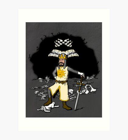 Arthur, the bunny slayer. Art Print