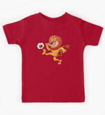 Brave Lion Kicking a Soccer Ball Kids Clothes