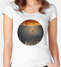 toward the sun Women's Fitted Scoop T-Shirt