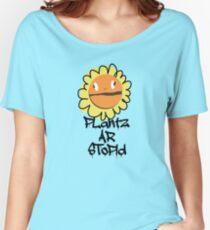 PLantz AR SToPiD, Art Inspired by Plants Versus Zombies: Garden Warfare Women's Relaxed Fit T-Shirt