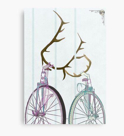 Bicycle Love Metal Print