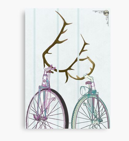 Bicycle Love Canvas Print
