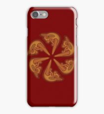Dragons Head Circle iPhone Case/Skin