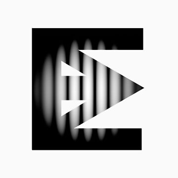 Ten Mouth Electron Slit Experiment Logo by 10mouthelectron