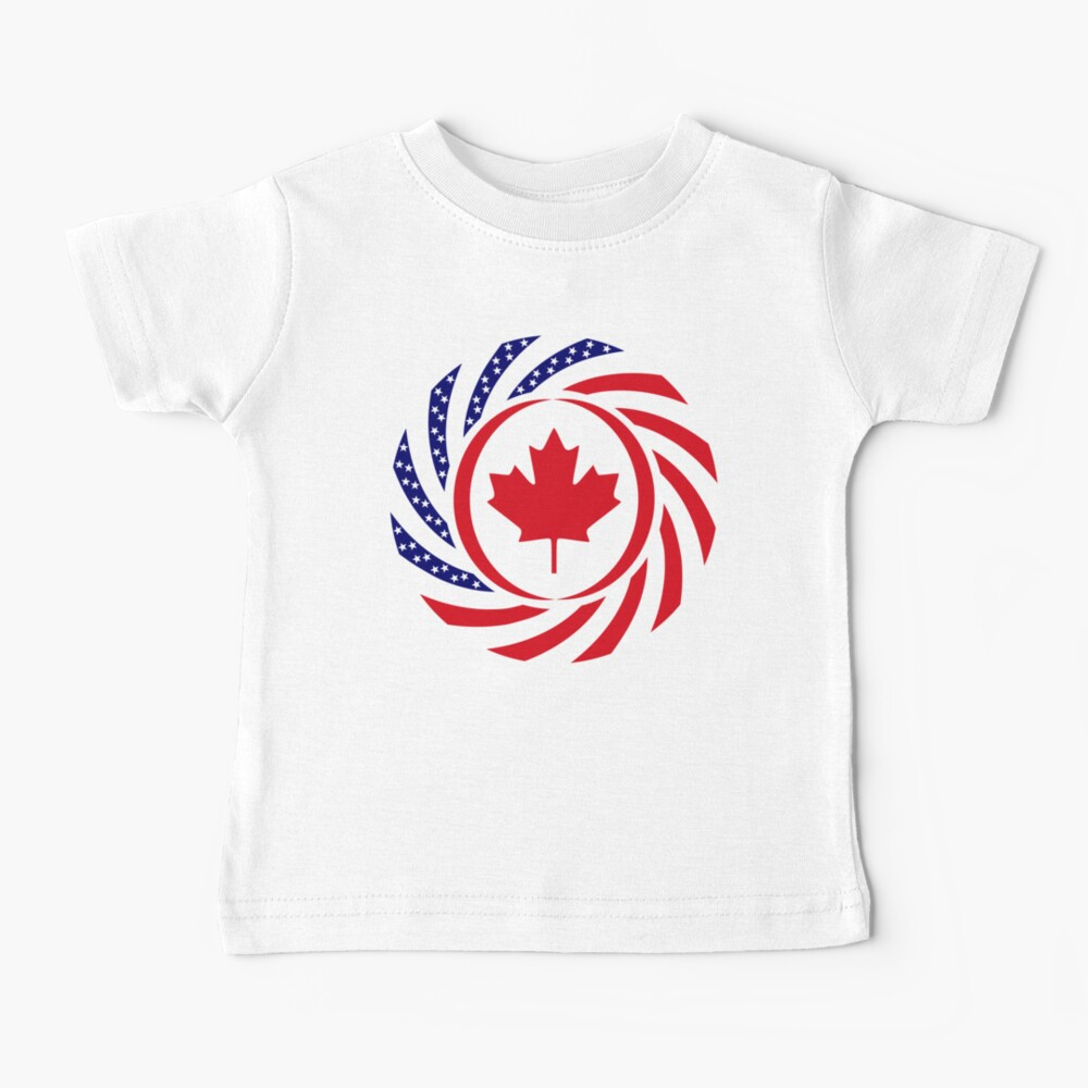 Canadian American Multinational Patriot Flag Series Baby T-Shirt