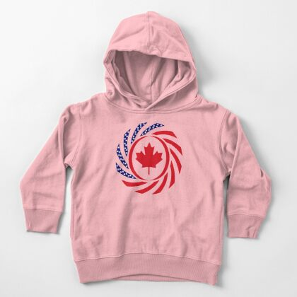 Canadian American Multinational Patriot Flag Series Toddler Pullover Hoodie