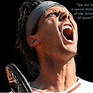 Rafa yelling by Dulcina