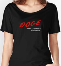 DOGE - Very Currency, Much Wow Women's Relaxed Fit T-Shirt
