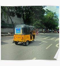 Taxi, India Style Poster