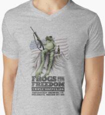 Frogs for Freedom Triple-Hopped IPA Men's V-Neck T-Shirt