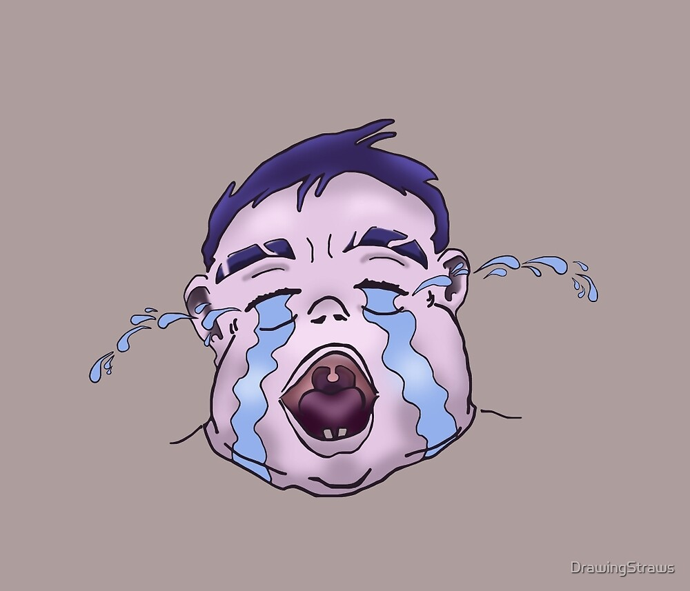 Anime crying baby by DrawingStraws