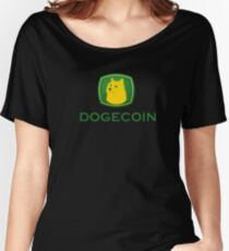 Dogecoin inspired by John Deere Women's Relaxed Fit T-Shirt