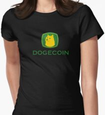 Dogecoin inspired by John Deere Women's Fitted T-Shirt