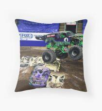 Monster Jam - GRAVE DIGGER Throw Pillow