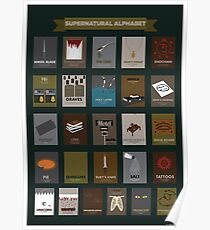Supernatural Alphabet Poster