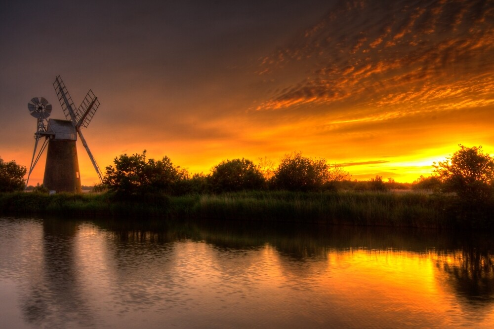 Turf Fen Sunset by Wendy Williams