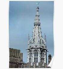 Gothic spire at Cardiff Castle Poster