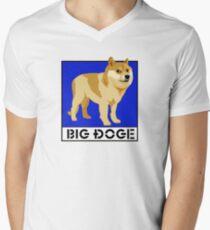 "Dogecoin inspired by ""Big Dogs"" Men's V-Neck T-Shirt"