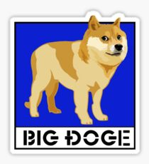 "Dogecoin inspired by ""Big Dogs"" Sticker"